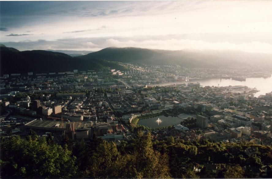 Vue de Bergen depuis le belvédère