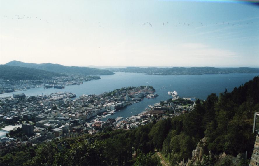 Bergen, autre vue depuis le belvédère