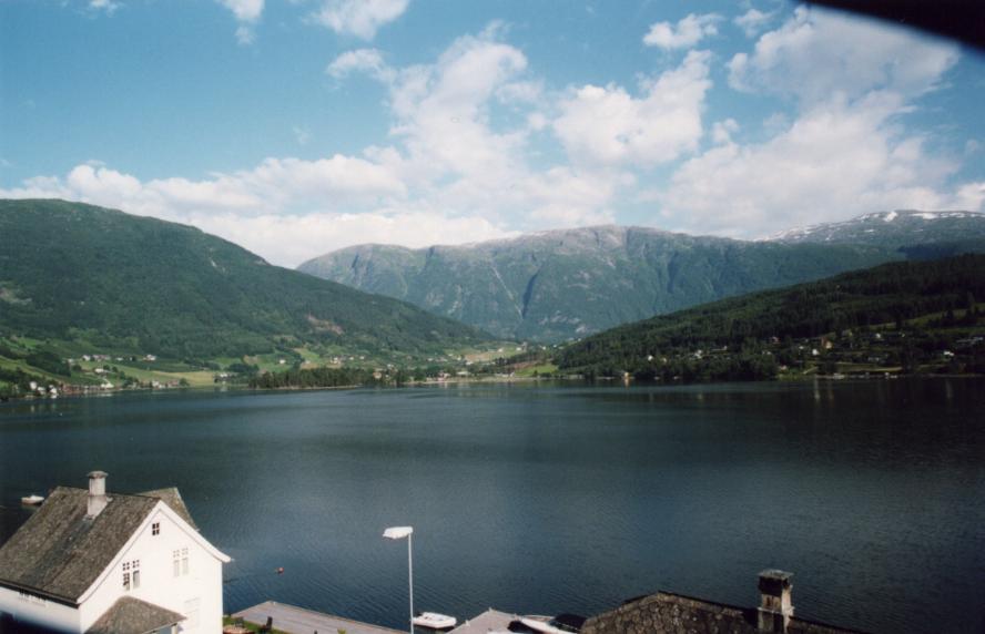 Ulvik, vue depuis la chambre