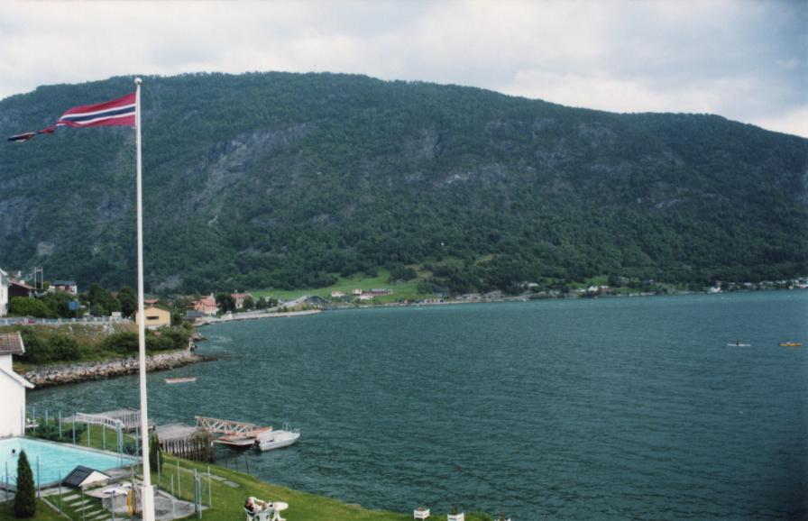 Vue de la chambre &agrave Sogndal