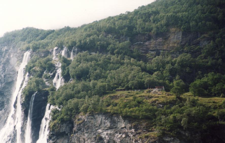 Geirangerfjorden, des gens vivaient là