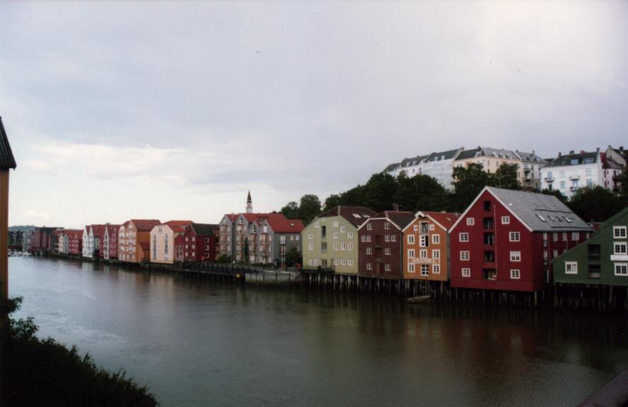 Trondheim, les vieux entrepôts